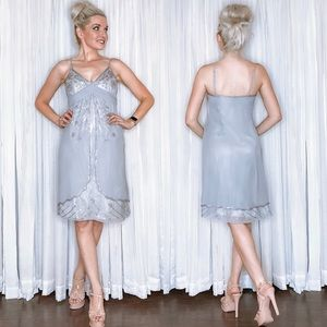 Silver Bridal Party Dress Adrianna Papell